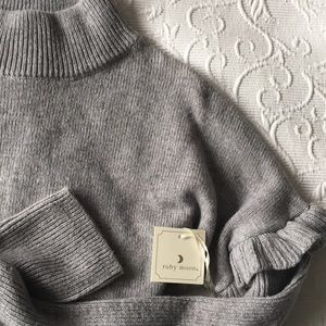 NWT Anthropologie Ruby Moon mock neck sweater